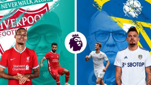 Liverpool draws with Leeds United at Elland Road
