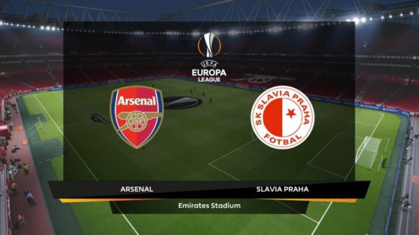 Slavia Prague vs Arsenal match updates