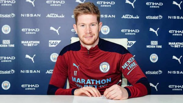 De Bruyne signed new contract at Man City