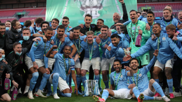 Manchester City smashed Tottenham winning EFL Cup fourth time in a row