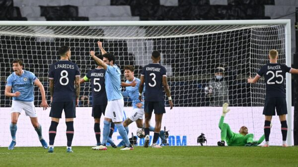 Manchester City brushed away PSG to win semi-finals first leg