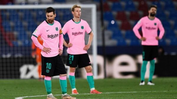 Barcelona played draw against Levante