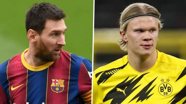 Lionel Messi accept pay cut at Barca to bring Haaland
