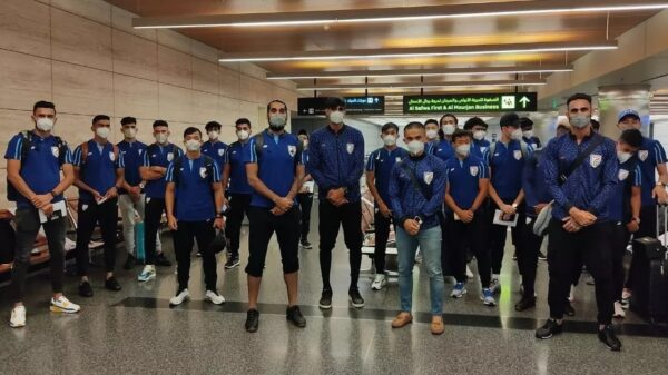 Indian football team waiting for COVID-19 results after reaching Doha