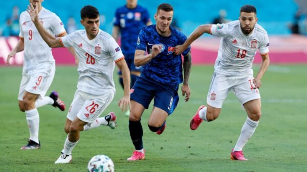 Spain beat Slovakia in their first win at Euro 2020