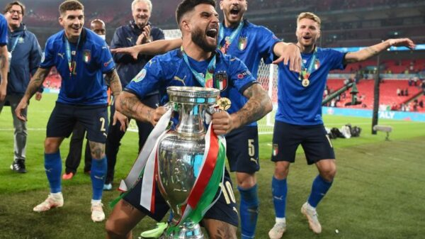 Players react to Italy's Euro 2020 win over England
