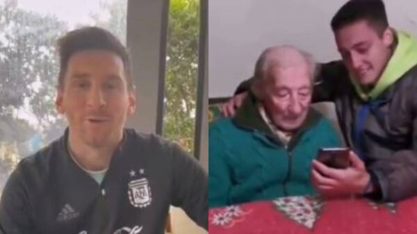Messi sent video message to surprise 100-year-old superfan