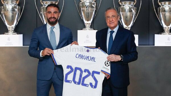 Real Madrid extended contract with Dani Carvajal