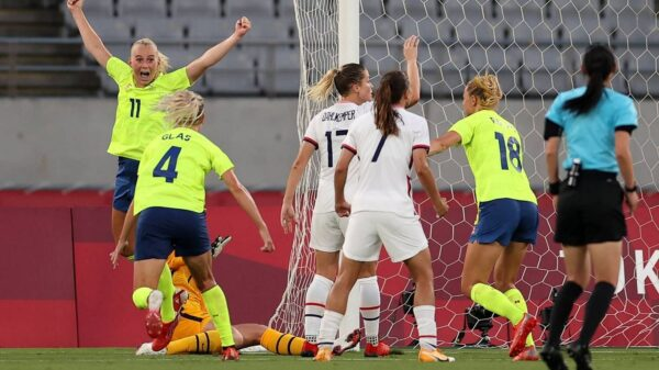 Sweden defeated United States in women's Tokyo Olympics