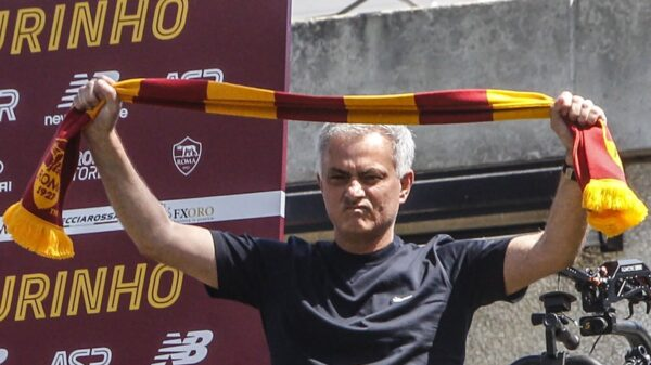 Drone and screen installed at Roma training ground