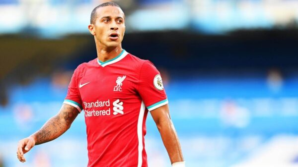 Thiago Alcantara out from Liverpool friendly with Bologna