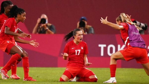 Canada women's football team won gold in Olympic Games