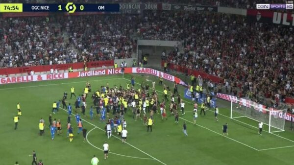 Nice and Marseille game abandoned