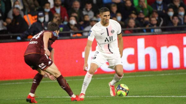 PSG defeated Metz away with Hakimi's double strike
