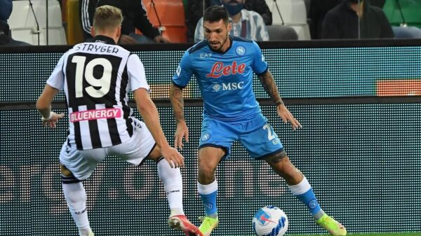 Serie A: Napoli secure away victory against Udinese