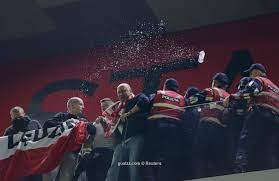 Albania fans interrupted World Cup qualifier match against Poland